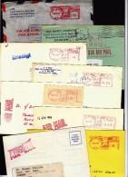USA 8 Air Mail Covers / Machine Stamp - United States