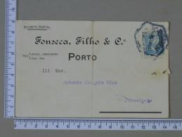 PORTUGAL    - FONSECA, FILHO & Cª    2 SCANS - (Nº15297) - Postwaardestukken