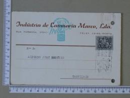 PORTUGAL    - INDUSTRIA DE CAMISARIA MARCO, LDA    2 SCANS - (Nº15300) - Entiers Postaux