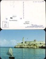 412309,Cuba Habana Havana Harbor Entrance And Morro Castle Festung Leuchtturm Segelbo - Ansichtskarten