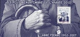 France Oblitération Cachet à Date BF N° F 4435 - Abbé Pierre - Blocks & Kleinbögen