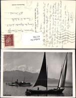 411786,Foto Ak Segelschiff Schiff Lac Leman Dampfer Italie - Voiliers