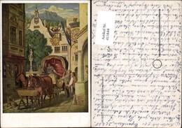 411844,Künstler Ak M. V. Schwind Die Hochzeitsreise Kutsche - Taxi & Carrozzelle