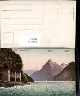 412952,Tellskapelle B. Seelisberg M. Gitschen U. Urirotstock Bergkulisse Kt Uri - UR Uri