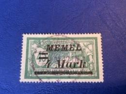 Memel Memelgebiet Cad / Stempel ROUGE / ROT !  DITTAUEN 1921 RRR Geprüft Dr. Petersen BPP Merson  Michel 91 - Memel (1920-1924)