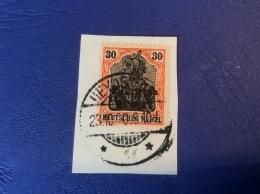 Memel Memelgebiet Cad / Stempel HEYDEKRUG BON TYPE 1920 Geprüft Dr. Petersen BPP Germania Michel 5x - Memel (1920-1924)