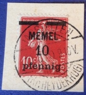 Memel Memelgebiet Cad / Stempel JAGSTELLEN 1920 RR ! Geprüft Dr. Petersen BPP Michel 19y Semeuse - Memel (1920-1924)