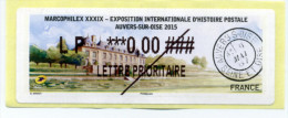 2015 LISA 2 MARCOPHILEX XXXIX AUVERS SUR OISE / TEST IMPRIMANTE - 2010-... Illustrated Franking Labels