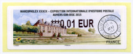 2015 LISA 2 MARCOPHILEX XXXIX AUVERS SUR OISE / VIGNETTE 0.01 EURO - 2010-... Illustrated Franking Labels
