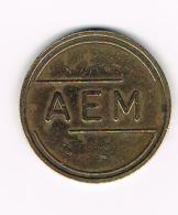 °°°   PENNING  AEM  MACHINE TOKEN - Professionals/Firms