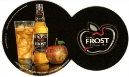 Apple Frost. Cider On Ice. Boisson Fermentée à Base De Pommes, à Servir Très Frais Avec Des Glaçons. RCS Strasbourg. - Sous-bocks