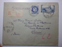 36 Francia 1938 2 Stamps Lettera Raccomandata Cover - Francia