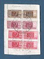 ITALIA REPUBBLICA - PACCHI POSTALI- 1976: 4 Valori Usati Su Frammento Per Toronto (Canada) - In Buone Condizioni.. - Pacchi Postali
