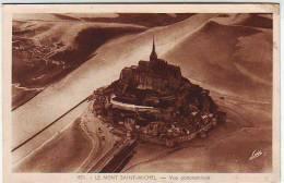 50. LE MONT SAINT MICHEL . VUE PANORAMIQUE . Griffe D'annulation Du Courrier à L'arrivée REIMS PRINCIPAL - Le Mont Saint Michel