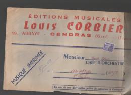 (cENDRARS? GARD) Enveloppe Corbier (musique Imprimée) Avec Préoblitéré Coq 8F ,1959 (PPP3515) - Precancels