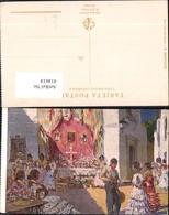 414618,Künstler Ak M. Bertuchi La Cruz De Mayo Tanzen Spanische Volkstypen Spanien Eu - Europe