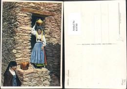 414740,Aritzo Costumi Frau Krug A. Kopf Italien Volkstypen Europa - Europe
