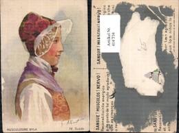 414734,Künstler Ak G. Albinet Musculosine Byla Suede Frau Hut Volkstypen Europa - Europe