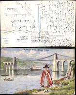 414749,Künstler Ak Warren Williams A Welsh Maid Menai Brigde Volkstypen Europa - Europe