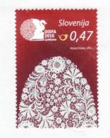 1252/ Slowenien Slovenia 2016  Mi.No. 1211 ** MNH Idria Lace Spitze - Textil