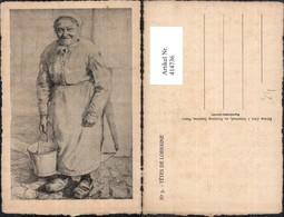 414736,Künstler Ak Tetes De Lorraine Alte Frau Kübel Frankreich Volkstypen Europa - Europe
