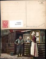 418016,Volendam Mann Frauen Niederlande Volkstypen Europa Pub Photochemie Ostermaier - Europe
