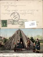 418023,Lappländer A Skansen Familie V. Zelt Tipi Lappland Finnland Volkstypen Europa - Europe
