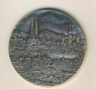Ansichten Medaille Basel, Silber -900-, Ø40 Mm, 23 Gr. (47257) - Entriegelungschips Und Medaillen