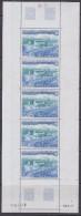 TAAF 1984 Port Jeanne D´Arc 1v  (strip Of 5v) ** Mnh (TA122A) - Luchtpost