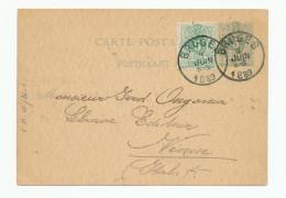 Entier Postal Lion Couché + TP Dito BRUGES ( La Venise Du Nord ) 1889 Vers VENISE - Repiquage Soc. St Augustin --  WW907 - Entiers Postaux