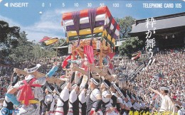"Japan, 391-010 B, Nagasaki Kunchi Festival - ""Iki Ga Mau"", 2 Scans. - Giappone"