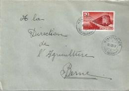 Brief  Montsevelier Près Delémont - Bern                1947 - Brieven En Documenten