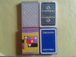 Lot De 4 Jeux Neufs Publicitaires. 1 Jeu De 52 +2 Joker Et 2 Jeux De 32 + 1 Joker Les 3 En Boite Carton 1 Sous Blister - 32 Cartes