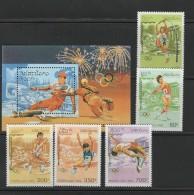 Laos 1995 Olympic Games Atlanta Set Of 5 + S/s MNH - Ete 1996: Atlanta