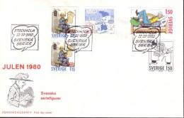 Sweden - FDC 11/10 1980 Svenska Serier *ILLUSTRATED* - FDC