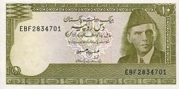 PAKISTAN 10 RUPEES ND (1999) P-39 AU/UNC SIGN. ISHRAT HUSSAIN [ PK224i ] - Pakistan