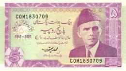 PAKISTAN 5 RUPEES 1997 P-44 UNC  [ PK229a ] - Pakistan