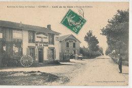 CUPERLY  Café De La Gare Thomas Guillet  Et Route De Châlons Attelage, Animée, Café Restaurant Rémy - Autres Communes