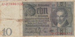 Germany 10 Reichsmark 1924 - [ 3] 1918-1933 : Weimar Republic