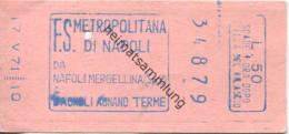 Italien - F.S. Metropolitana Di Napoli - Fahrschein 1971 - U-Bahn