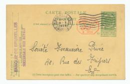 Entier Postal Armoiries + Cachet Mécanique 35 C BRUXELLES 1929 - Emploi Commercial Comme Support --  WW909 - Entiers Postaux