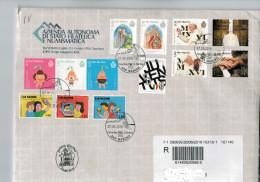 San Marino 2016 Busta FDC Juventus Campione D´Italia - Giubileo Della Misericordia - Amore Tecnologico - S.Leone   ° VFU - Used Stamps