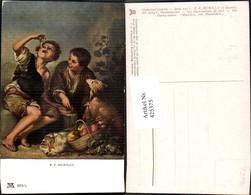 425375,Künstler Ak Murillo Pastetenesser Buben Hund Essen Trinken Pub  F. A. Ackerman - Küchenrezepte