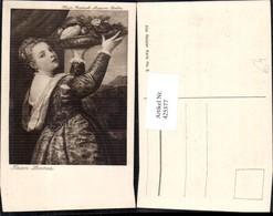 425377,Künstler Ak Tizian Lavinia Frau M. Tablett Telller Früchte Essen Trinken - Küchenrezepte
