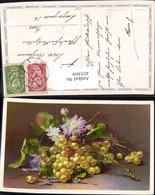 425369,Künstler Ak C. Von Sivers Weintrauben Blumen Stillleben Essen Trinken - Küchenrezepte