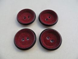 MBR03) Lot De 4 Boutons 35mm - Buttons