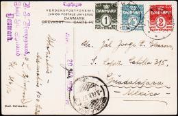 1937. 1 + 2 +4 ØRE IKAST 20.1.37. To Mexico. GUADALAJARA 3. FEB 37.  (Michel: 195+) - JF194830 - Danemark
