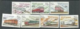 Vietnam N° 862 / 68  XX  Locomotives : Les 7  Valeurs Sans Charnière, TB - Viêt-Nam