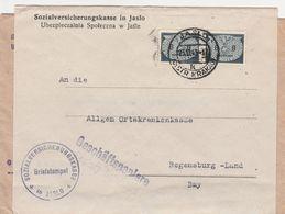 General Gouvernement Lettre De Service Jaslo Pour L'Allemagne 1943 - 1939-44: World War Two
