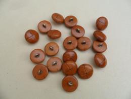 MBNC03) Lot De 20 Boutons 23mm Dessus Cuir ? - Botones